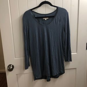 Anthropologie 3/4 sleeve shirt with silk lining.